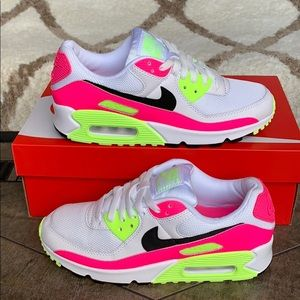 WMNS NIKE AIR MAX 90 White/Black-Pink Blast